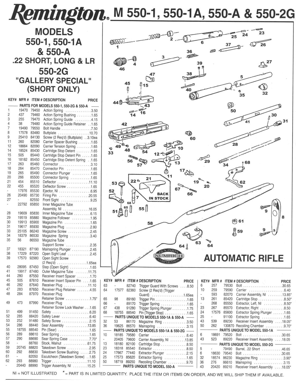Remington Parts Schematic Automotive Wiring Diagram 1187 Rem 550 1 Autoloader Part Question The High Road 870 Wingmaster